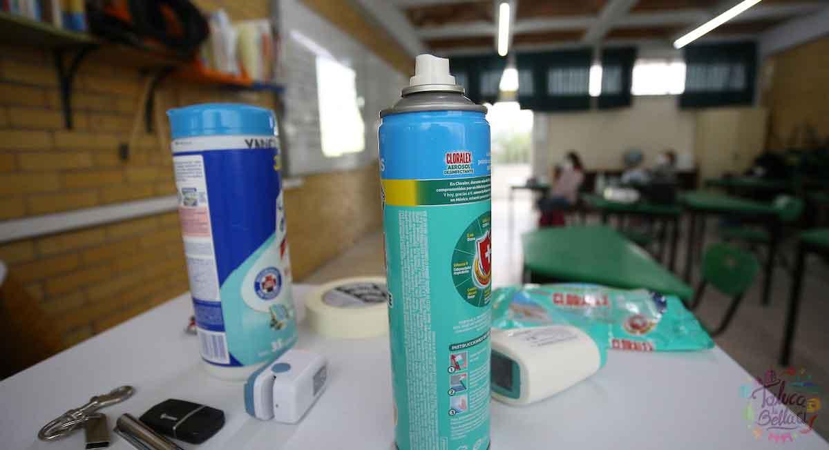 sanitizacion aulas en regreso a clases 2021