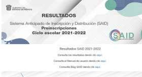 said resultados 2021 para preescolar primaria y secundaria