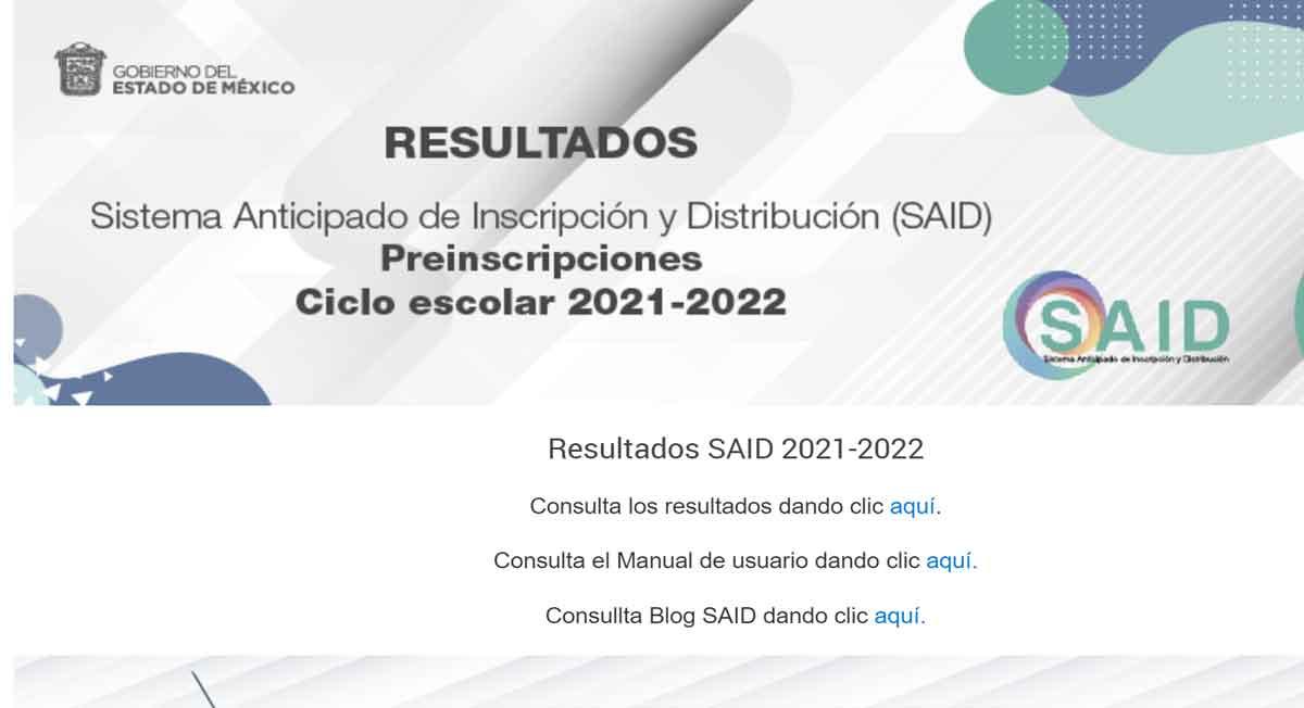 Consulta paso a paso SAID resultados 2021, preescolar, primaria y secundaria