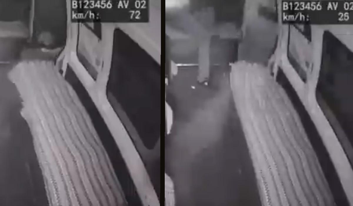 Edomex: ladrones salen volando de una combi al intentar robarla