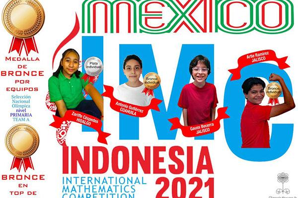 Competencia Internacional de Matemáticas México gana el oro