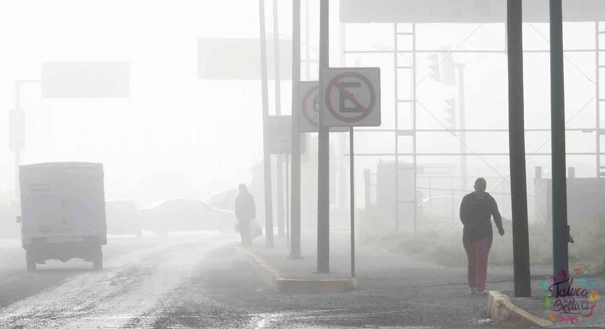 Niebla por la mañana y lluvias con descargas eléctricas por la noche para el clima en Toluca