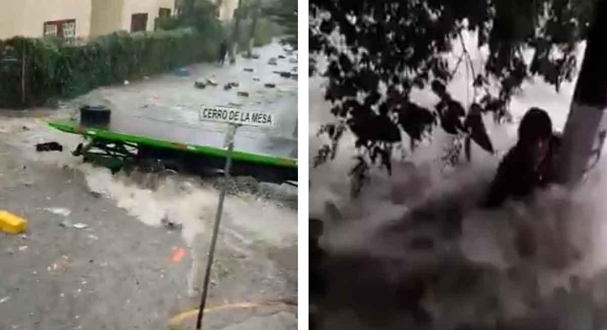 Noticias Tlalnepantla - Videos de lluvias arrastrando transeúntes, camión arrolla a uno de ellos