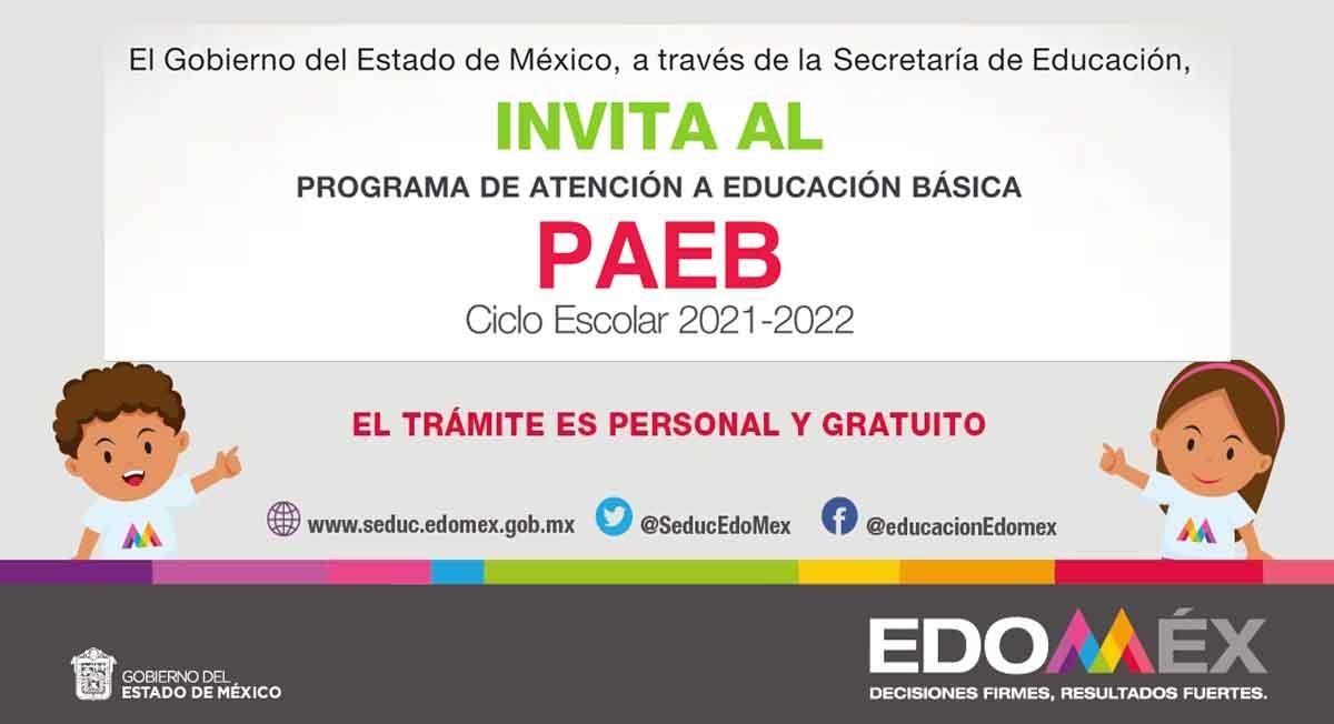 PAEB 2021, consulta la convocatoria, requisitos, fechas y cómo cambiar de escuela o turno