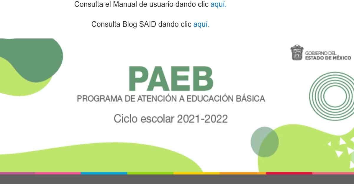 PAEB 2021, paso a paso para hacer cambio de escuela o turno preescolar, primaria y secundaria