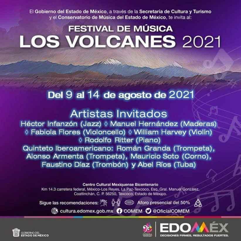convocatoria para el primer festival de musica los volcanes 2021