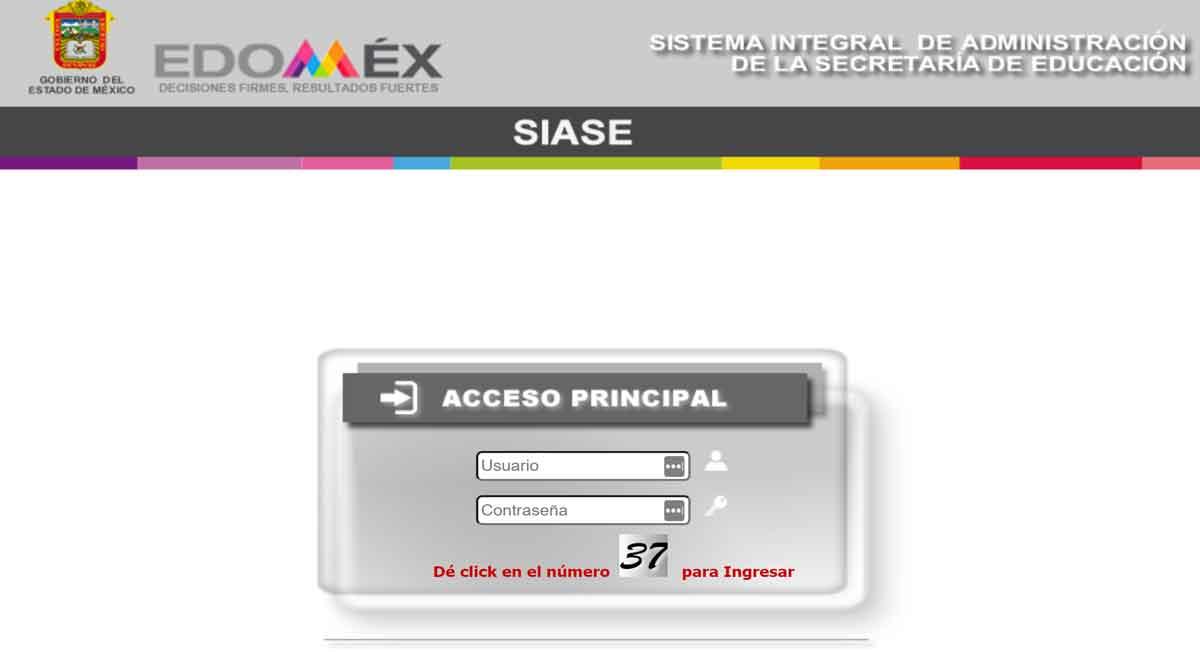¿Tienes dudas en el sistema SIASE EDOMEX?, consulta esta guía práctica para entrar