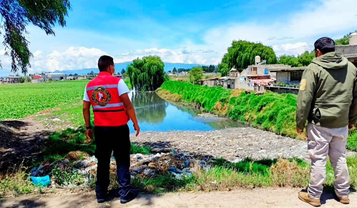 Por temporada de lluvias, Protección Civil de Toluca supervisa afluentes para prevenir posibles riesgos