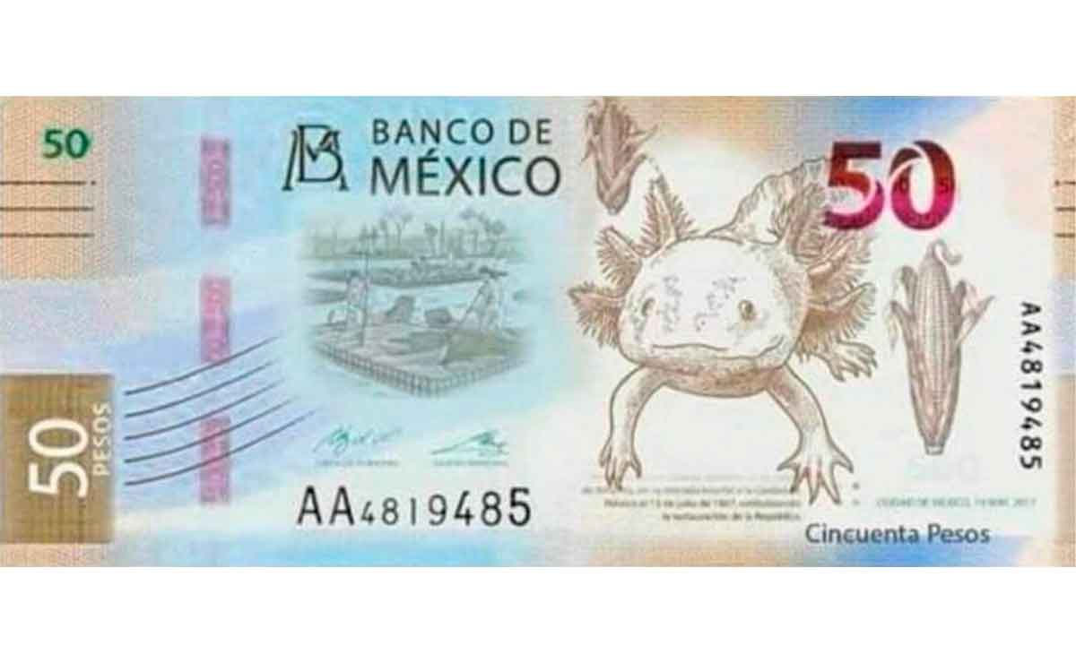 Billete nuevo 20 pesos 2021
