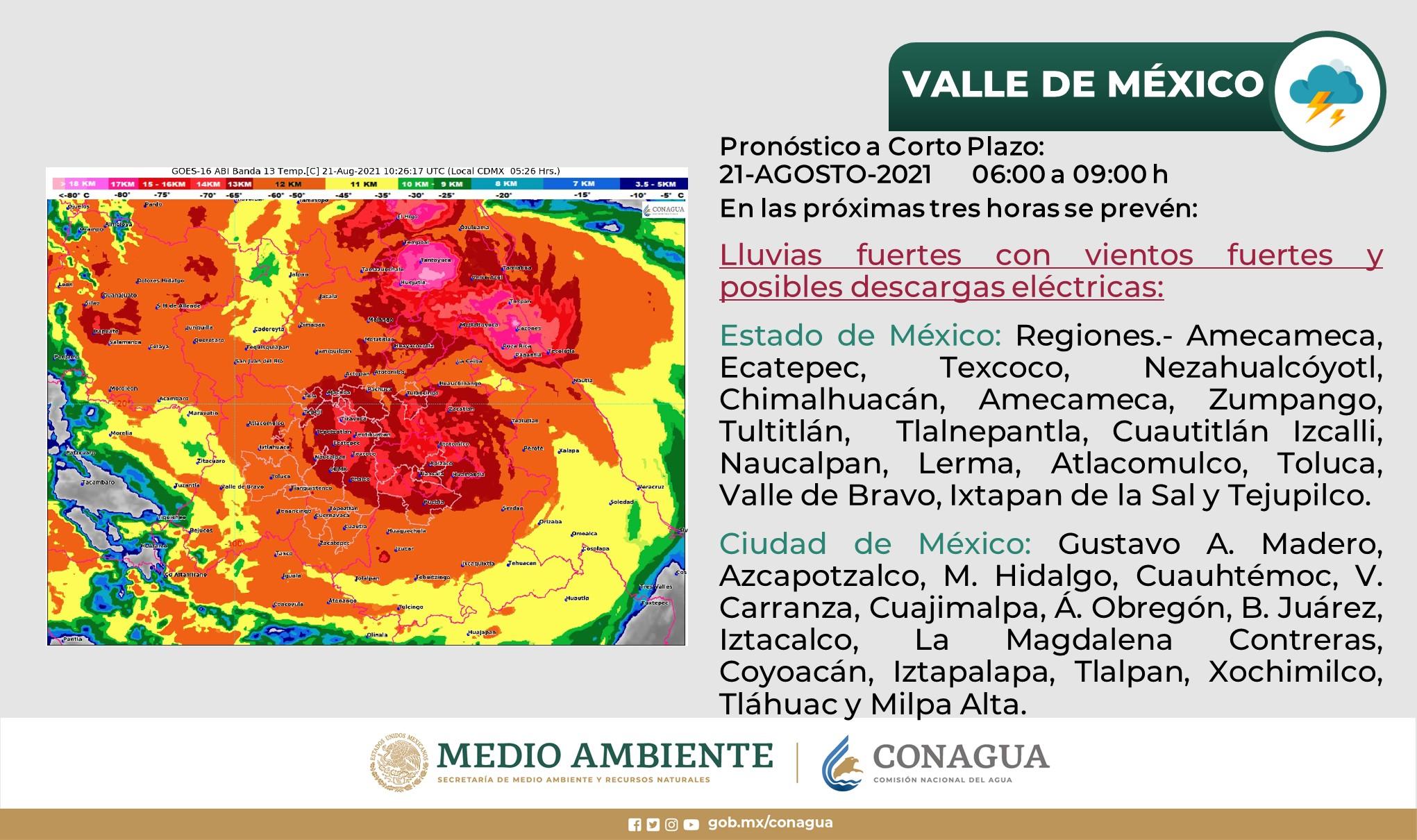 municipios mexiquenses con presencia de lluvia por huracán grace