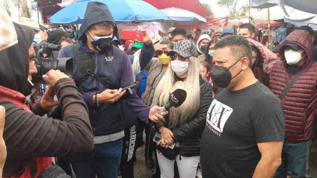 Agresión a reportero tras documentar conflicto entre comerciantes en Terminal-Mercado Juárez toluca