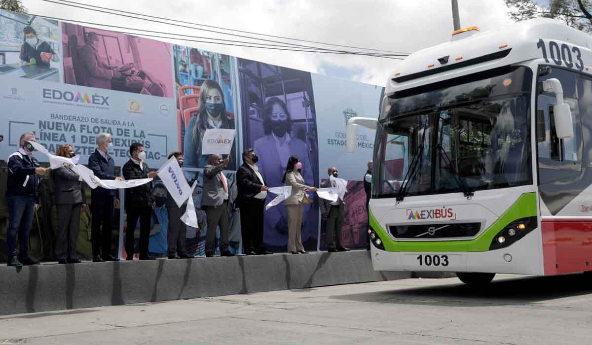 ampliación en la Línea 1 del Mexibús anuncia el gobernado alfredo del mazo durante evento inaugural de 15 nuevas unidades
