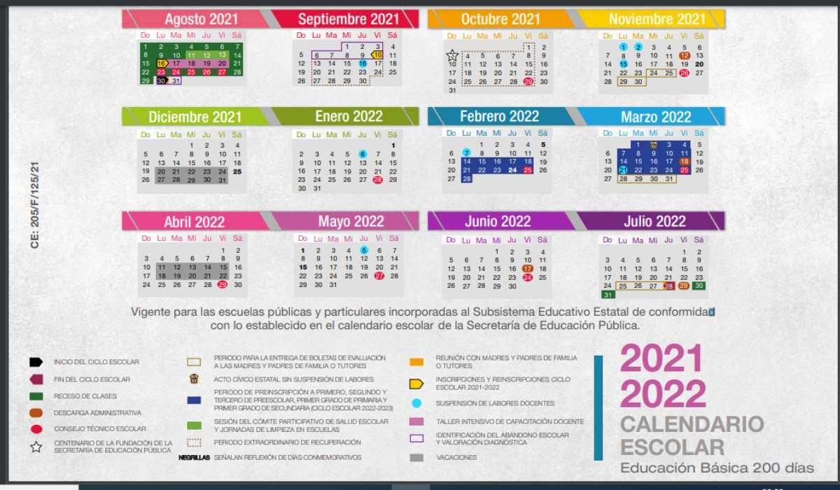 Conoce la fecha del primer megapuente del calendario escolar 2021 a 2022