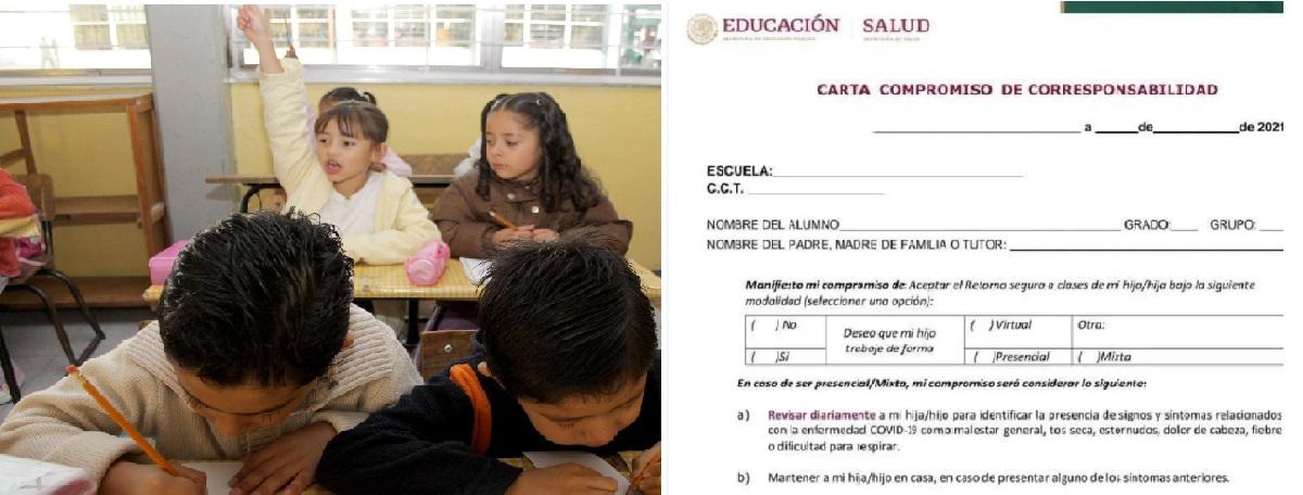 Carta compromiso de corresponsabilidad para escuelas del Edomex