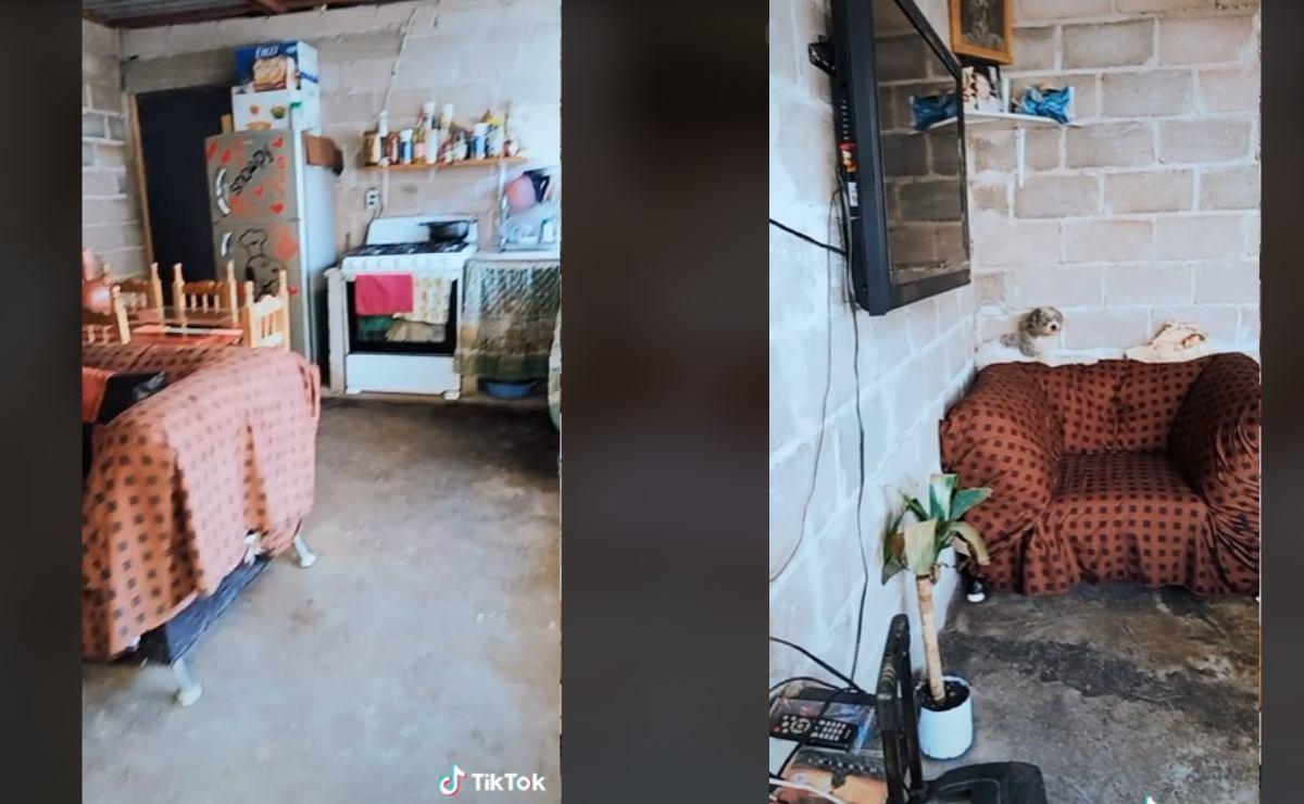 Video viral TikTok- Mujer mexiquense presume su casa de lámina y se vuelve tendencia