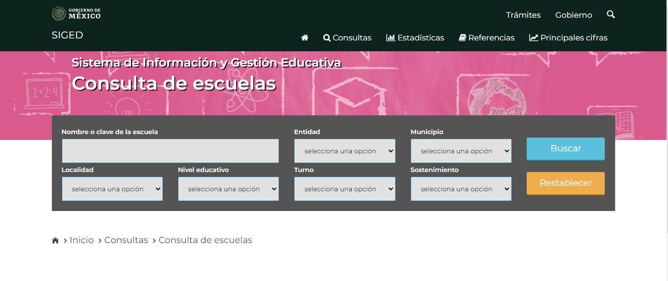 En caso de no saber el CCT del plantel educativo del alumno, se podrá hacer una consulta en línea a través del Sistema de Información y Gestión Educativa