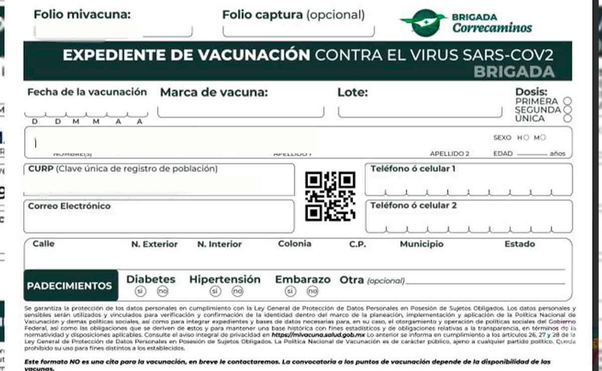 ¿Cómo descargar e imprimir formato de vacunación? Paso a paso