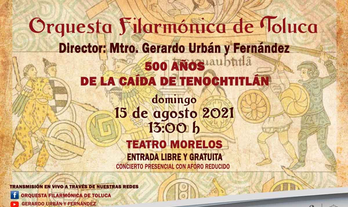 Concierto filarmónico, espectáculo conmemorativo a los 500 años de la caída de Tenochtitlán