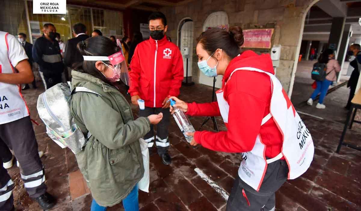 Cruz Roja Toluca brinda apoyo durante regreso a clases presenciales