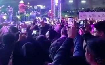 Evento masivo en Edomex: Personas en concierto en plena pandemia.
