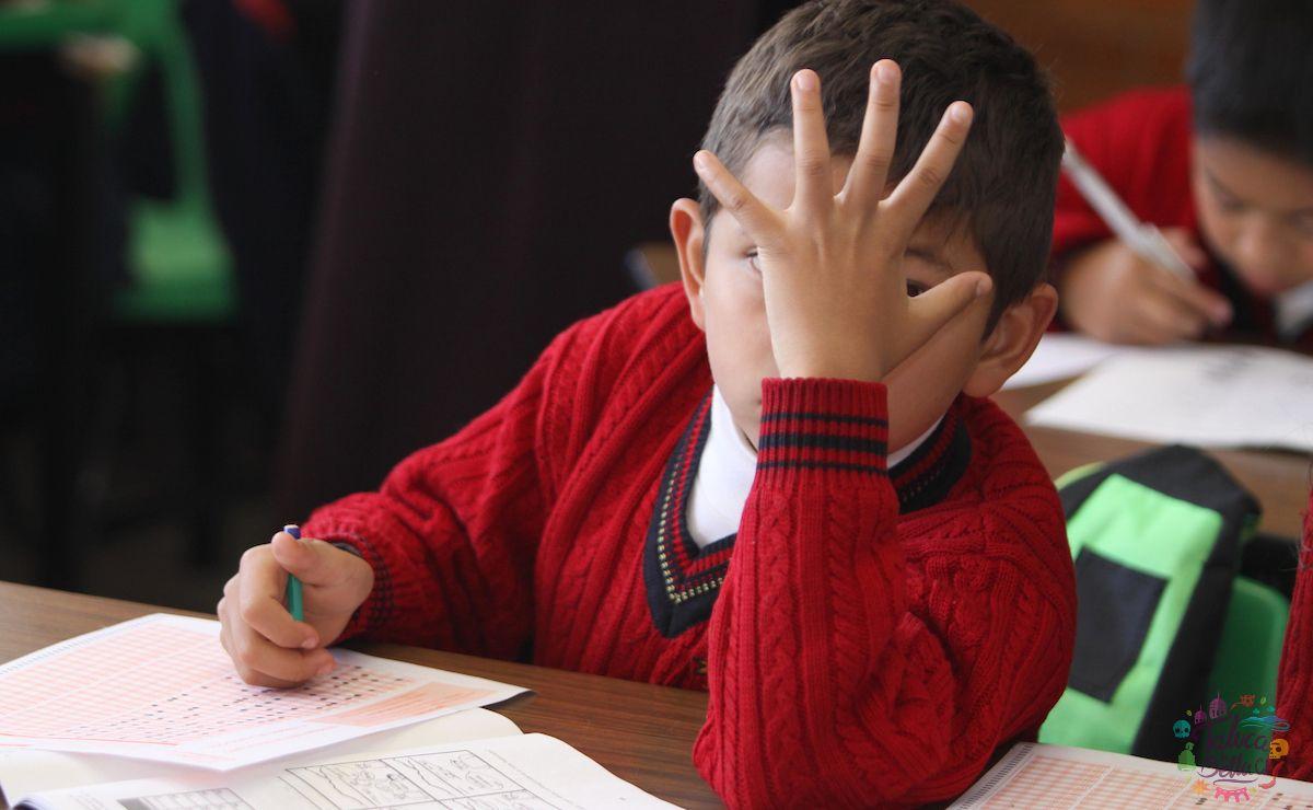 Niño recibiendo clases en el territorio mexiquense