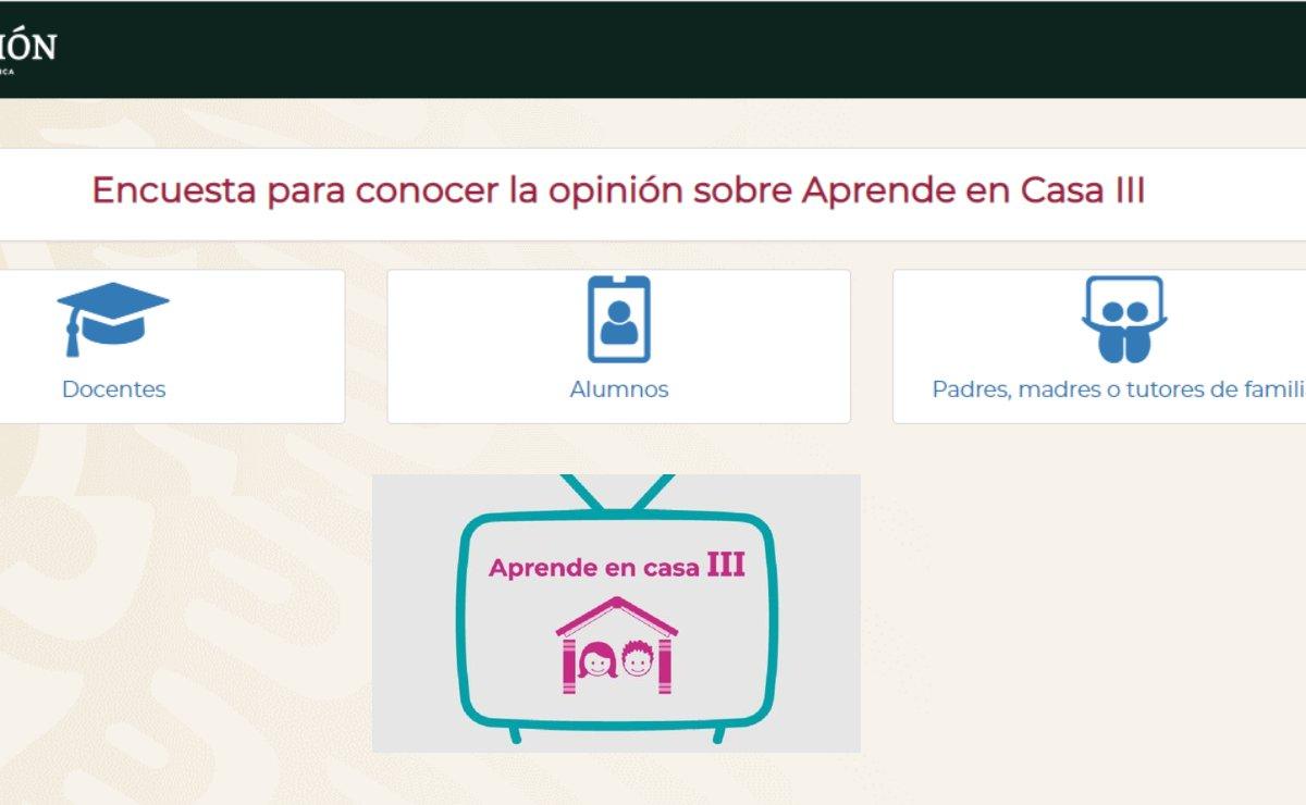 SEP quiere saber la opinión sobre los contenidos de Aprende en Casa