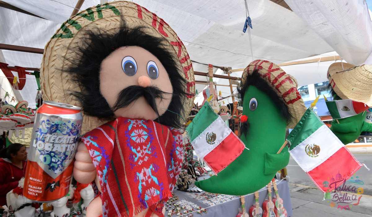 Productos aljusivos a las festas patrias del 15 de septiembre
