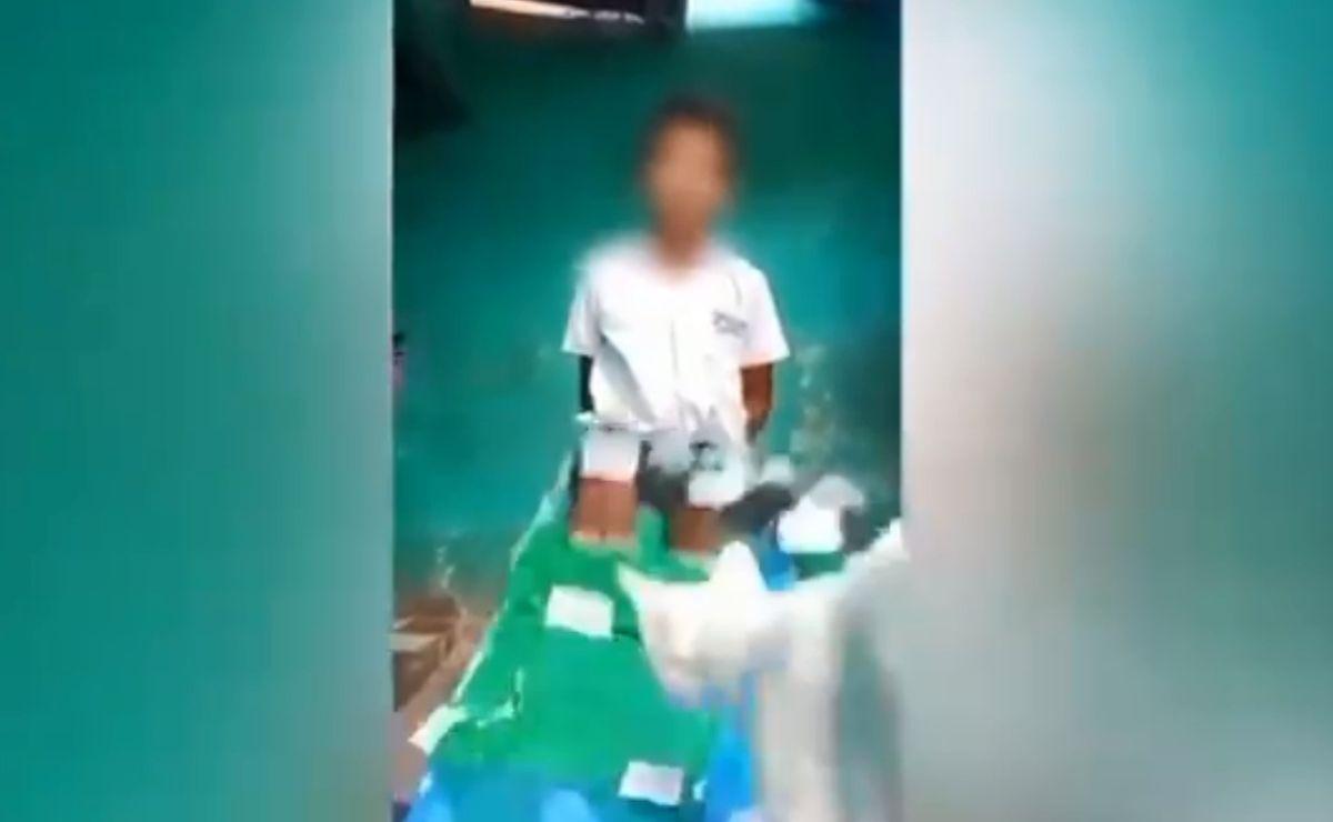 Gato destruye maqueta de niño durante clase virtual