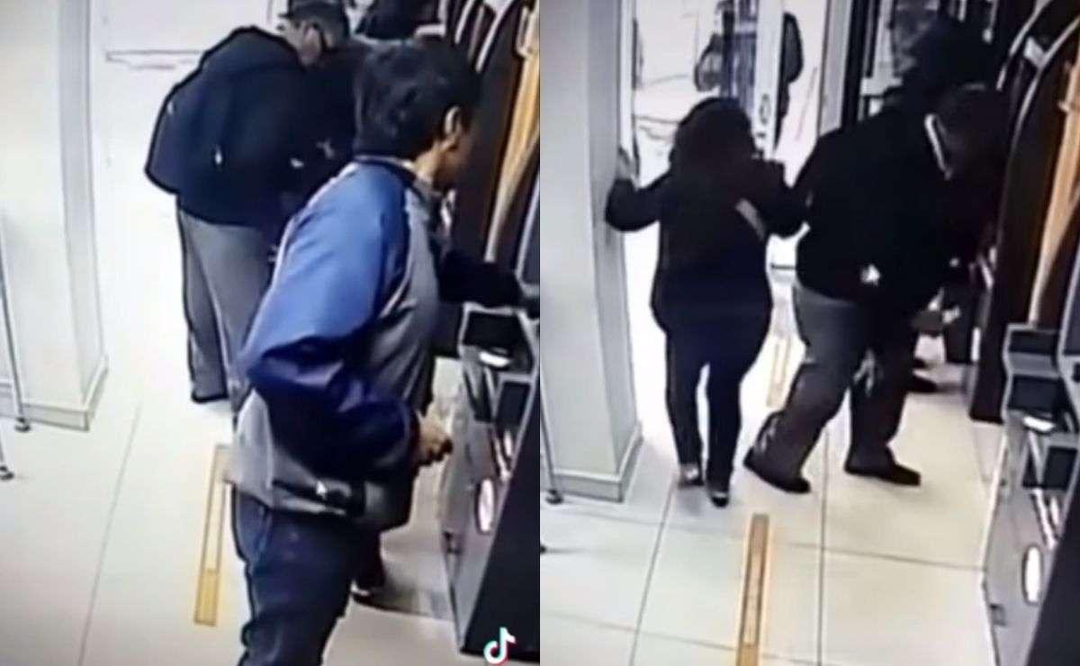comenzó a circular un video de uno de los modus operandi que los delincuentes usan para robar en cajeros automáticos