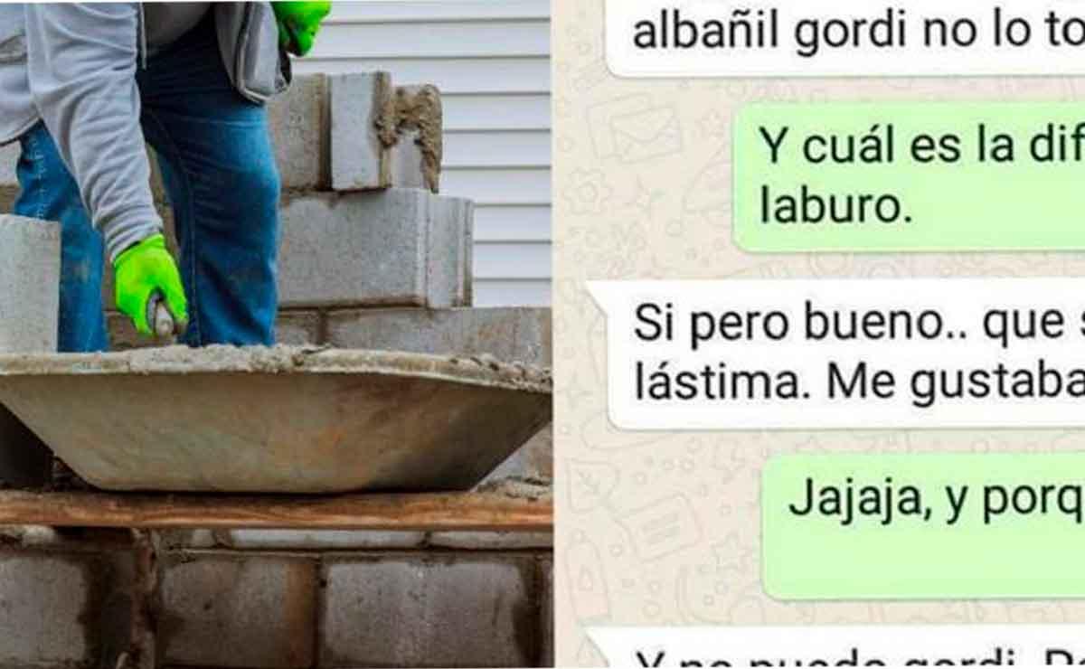 Mujer rechaza a un hombre por ser albañil y causa indignación en redes sociales