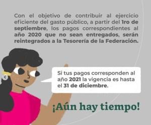 pagos pendientes de la beca benito juarez 2020