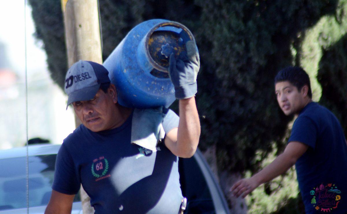 Trabajadores de las empresas gaseras en el EdoMéx
