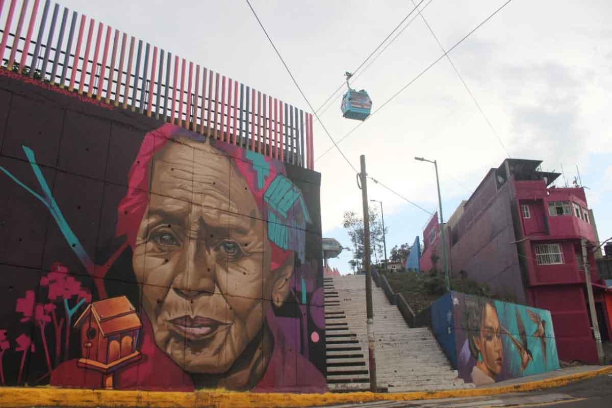 """""""Iztapalapa Murales"""", vistazo desde los aires. ¡No puedes perderte del increíble paisaje!"""