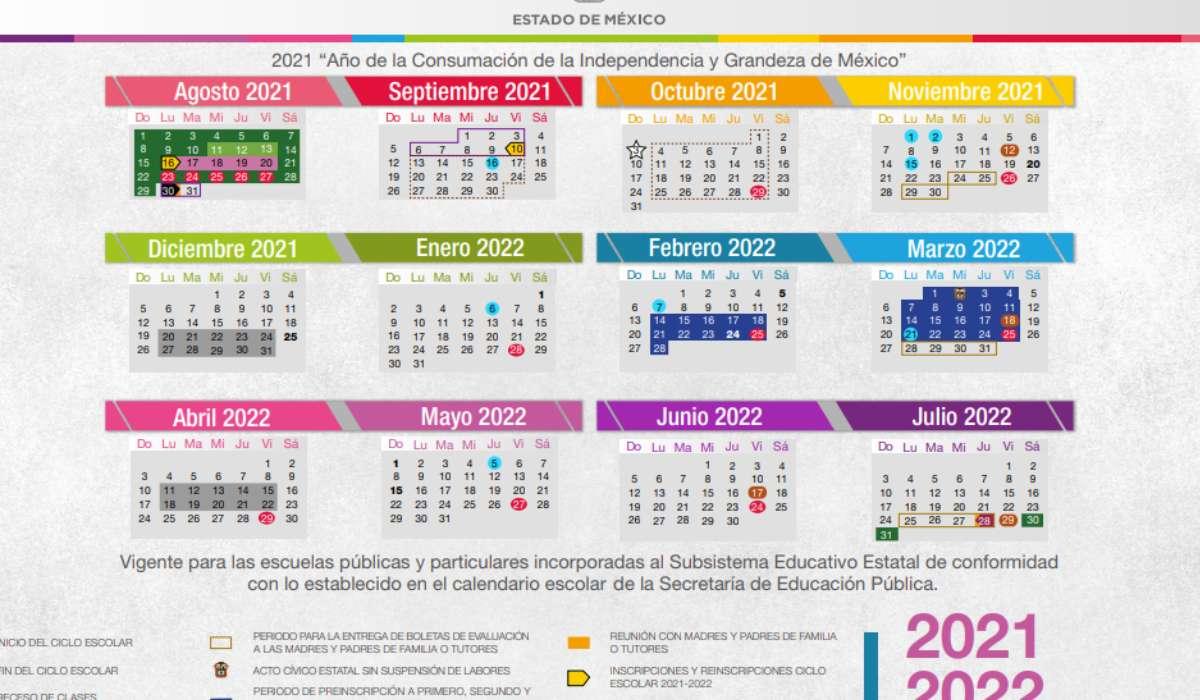 Días de descanso del Calendario escolar 2021-2022 en el EdoMéx
