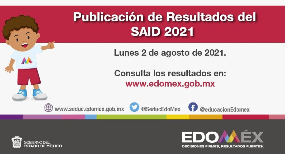 ¿Qué necesito para checar los resultados SAID Edomex 2021?