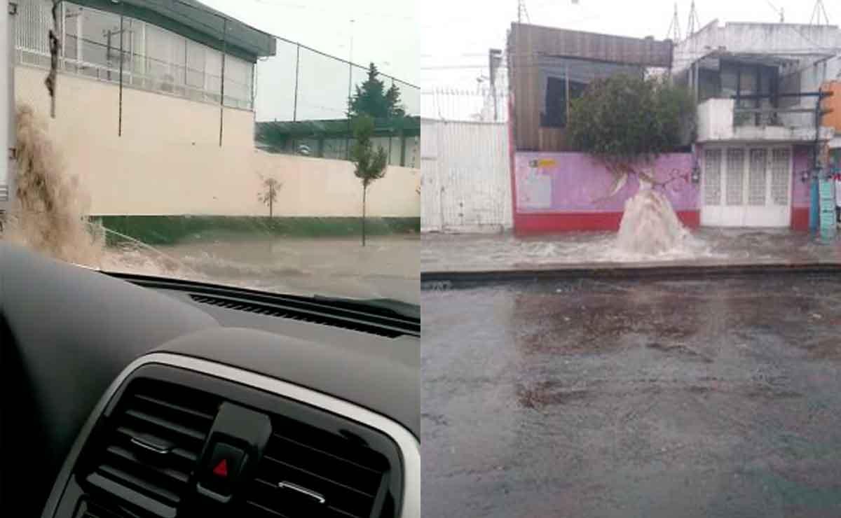Se inundan varias partes de Toluca y Metepec tras fuerte lluvia en el Valle de Toluca