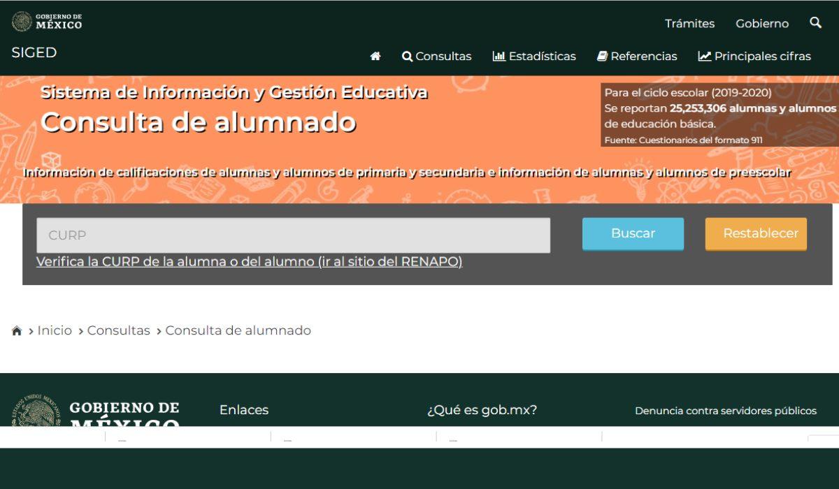 descargar la boleta de calificaciones 2021, plataforma del SIGED