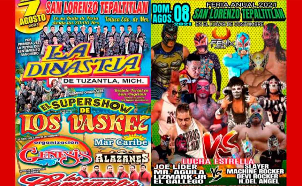 Toluca: Suspenden lugares donde se pretendían realizar bailes y una feria patronal