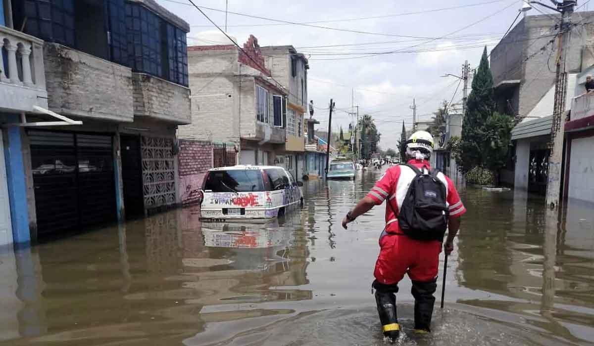 Inundación en Ecatepec; Cruz Roja evalúa daños en zonas afectadas