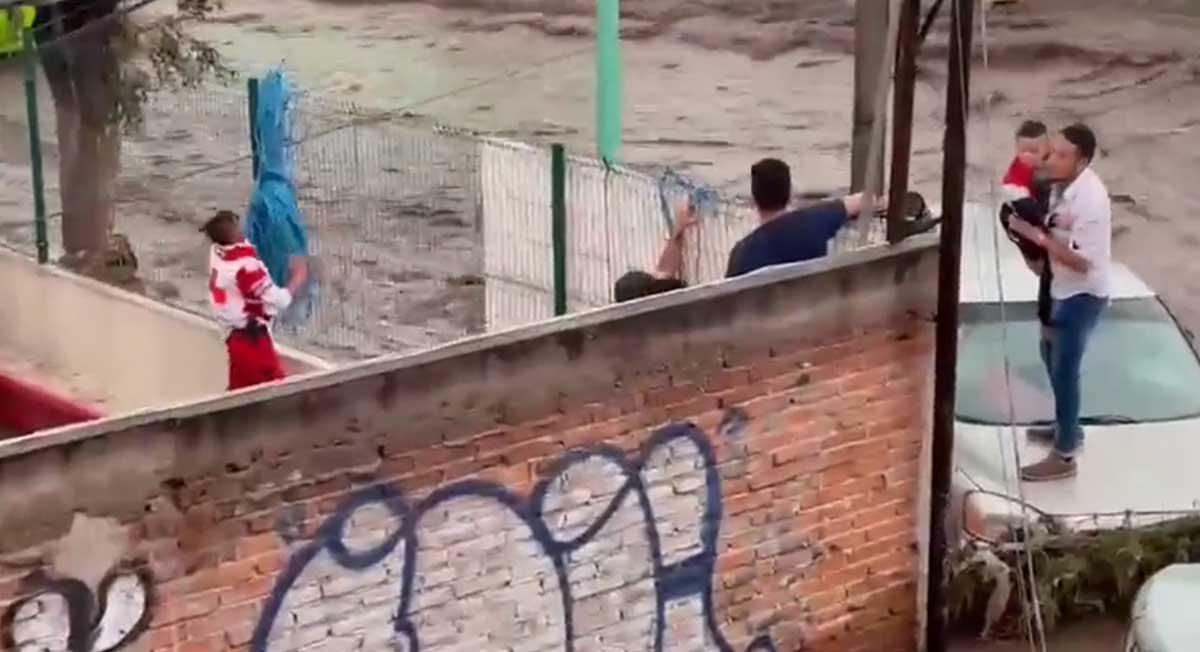 Lluvias en el Edomex dejan un saldo de 2 personas sin vida