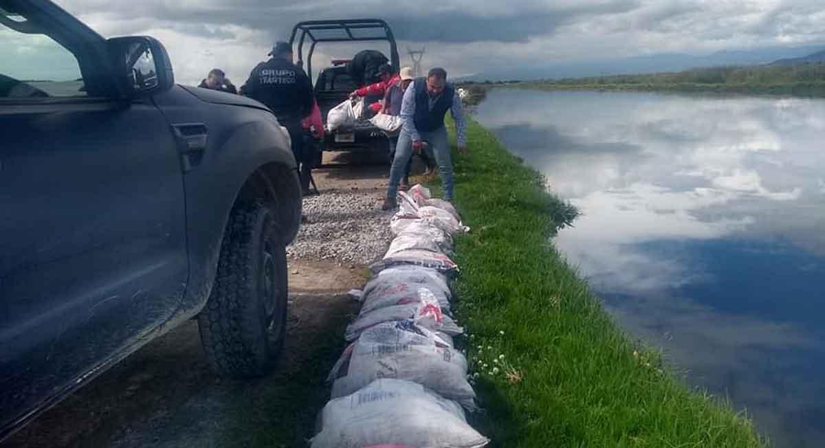 río lerma lleg al limite derivado de las fuertes lluvias en la region