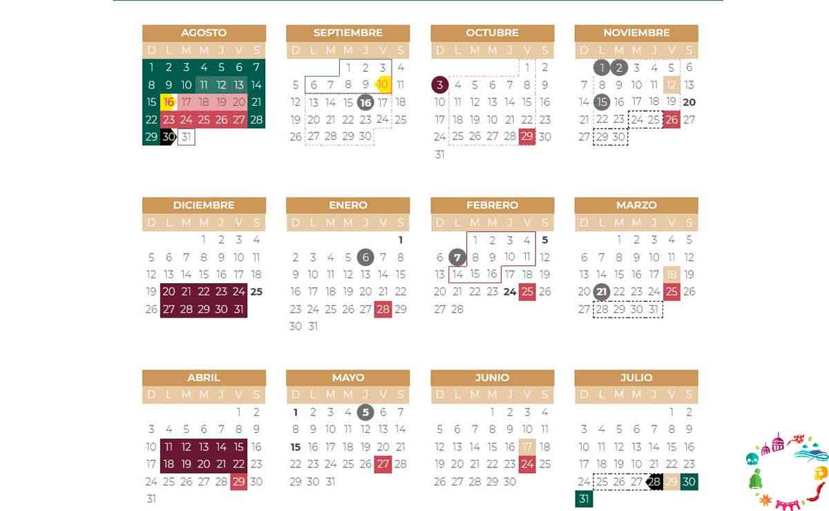 calendario escolar 2021 a 2022 sep pdf