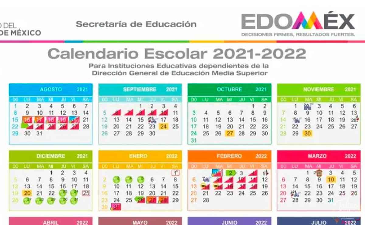 Calendario escolar media superior 2021 a 2022 estado de México: fechas de suspensiones y vacaciones
