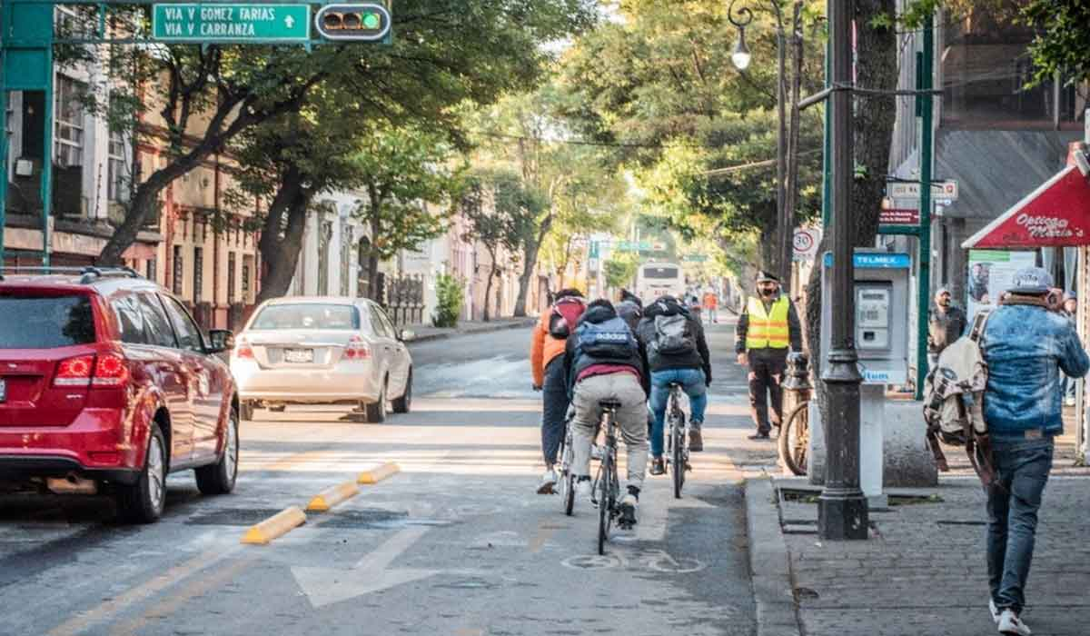 Paseo Colón en Toluca: renuevan estructura de ciclovía para construir tres paradas de autobús