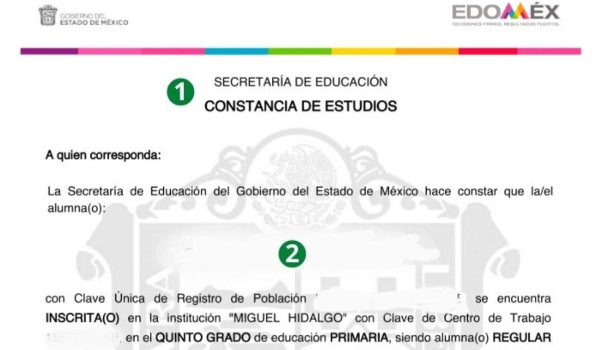 Pasos para descargar una constancia de estudios EdoMéx preescolar, primaria y secundaria