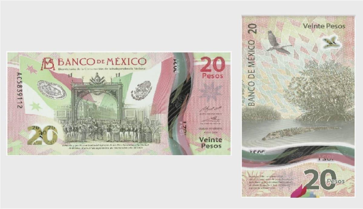 ¿Cuándo entra en circulación el nuevo billete de 20 pesos mexicanos?