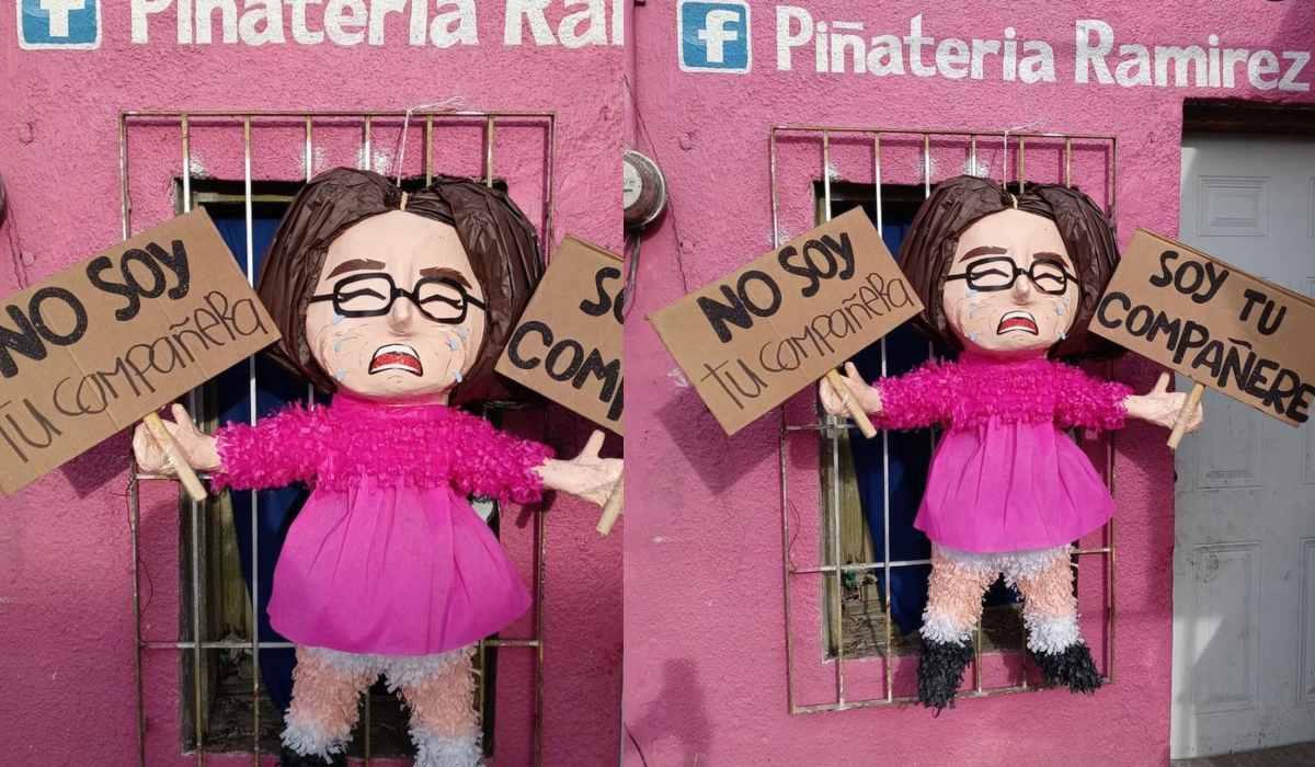 """Persona no binaria demandaría a las personas que crearon la piñata """"compañere"""""""