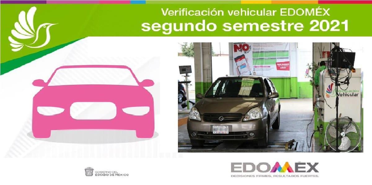 Últimos días para la verificación Edomex 2021 con engomado rosa
