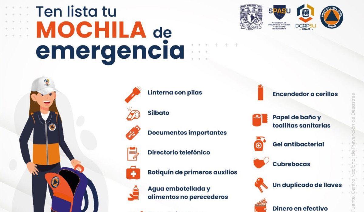 Mochila de emergencia- ¿Qué debe tener en caso de un sismo?