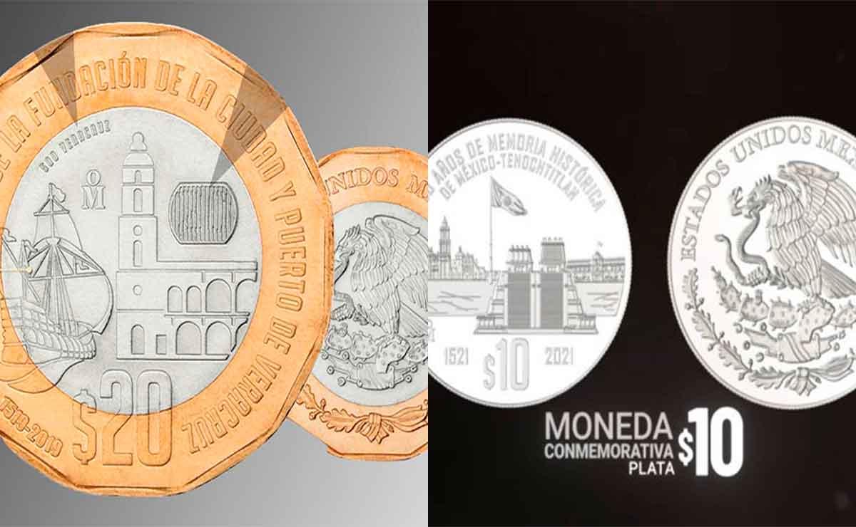 Estas son las nuevas monedas conmemorativas de 10 y 20 pesos ¡Son hermosas!